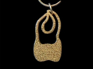 Molar Pendant in Polished Gold Steel