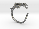 Gekko Wraparound Ring in Premium Silver
