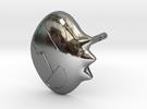 Yoko Skull Clip Stud Earring Remix (.333in) in Premium Silver
