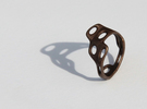 s3r023s6 GenusReticulum  in Polished Bronze Steel