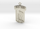 173rd Airborne Pendant in 14k White Gold