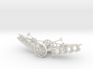 1005-2 Plough 1:43.5 O Scale in White Strong & Flexible