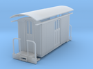Sn2 short round roof baggage car in Frosted Ultra Detail