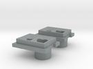 JK Stock Tail Light 5/3mm in Polished Metallic Plastic