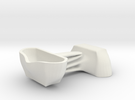 Voituré 'M' - Car Interior Flower Pot - 2 Set in White Strong & Flexible