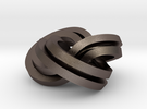 Torus Knot Knot (2,3),(3,2) in Stainless Steel