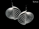 Running in Circles - Earrings (L) in White Strong & Flexible Polished