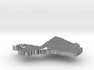 Mali Terrain Silver Pendant in Raw Silver