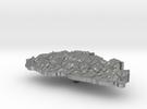 Bhutan Terrain Silver Pendant in Raw Silver