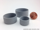 Cylinder Planters Smooth Collection 1:12 Scale in Polished Metallic Plastic