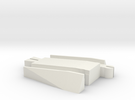 Male Tomy to Trackmaster Adapter in White Strong & Flexible