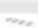 Thomas train hooks (set of 4) in White Strong & Flexible