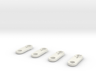Thomas train linkages (set of 4) in White Strong & Flexible