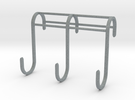 3 Hook Set for IKEA GRUNDTAL (17mm / 2.5mm) in Polished Metallic Plastic