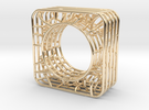 LOFF - wire cubic Ring and pendant in 14K Gold