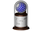 Pointwise Logo Globe in Full Color Sandstone