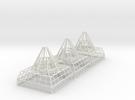Antenna Bases X 3 V0.1 in White Strong & Flexible