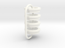 BB-spring adapter for AE Vintage Shocks in White Strong & Flexible Polished