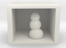 snowman in shadow box in White Strong & Flexible