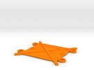 Copper Alchemy Symbol - Drink Coaster in Orange Strong & Flexible Polished