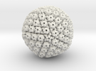 Herpes Simplex Virus capsid, radial colour 1Mx mag in White Strong & Flexible