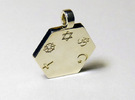 Statement for Peace: Jewish pendant in Polished Silver