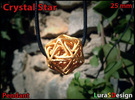 Crystal Star Pendant in Stainless Steel