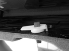 Audi Drehriegel/Hazard Trim Latch Warning Triangle in White Strong & Flexible