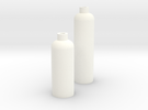 2 Modern Bottle Vases Large and Short in White Strong & Flexible Polished