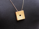 Feel Minus Pendant (#2245) in Matte Gold Steel