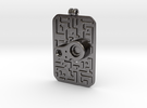 Laputian Sentry Seal Pendant in Polished Nickel Steel