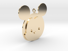 Tsum tsum Male Mouse Pendant in 14k Gold Plated