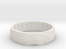 Moon Ring V3 RS11.5 Ring Size 11.5 in White Strong & Flexible