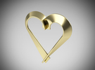 Heart Shaped Pendant in 18k Gold