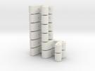 Kugelkopfhalterung LOSI MRC, Set: 2x Doppelt, 4x E in White Strong & Flexible