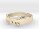 Kitty Cat  Ring in 14k Gold Plated