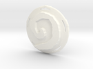 Hearthstone Pendant - Plastic Part Only in White Strong & Flexible Polished