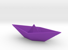 Origami Boat in Purple Strong & Flexible Polished