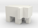 Cubic Elephant in White Strong & Flexible