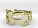 Ring Blocks - Size 7 in 18k Gold Plated