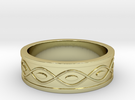 Ring with Eyes - Size 7 in 18k Gold Plated
