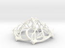 1:12 Antler Chandelier 2 in White Strong & Flexible Polished