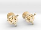 StarSplash cufflinks in 14k Gold Plated