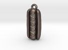 Big Ole Wiener Pendant in Stainless Steel: Medium