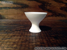 Modern Fruit Bowl 1:12 scale in White Strong & Flexible Polished