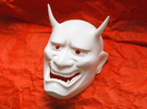 Japanese Hannya demon mask in White Strong & Flexible
