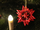 Star Point: Christmas Ornament in White Strong & Flexible