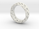 Trous Ring Size 6.5 in White Strong & Flexible