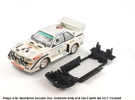 S04-ST1 Scalextric Audi Sport Quattro S1 Chassis in White Strong & Flexible