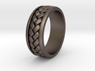 Weave Ring - SZ10 in Stainless Steel